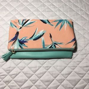 Rachel Pally Reversible Clutch Birds of Paradise